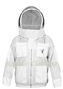 4XL 3 Layers Ultra Ventilated beekeeping beekeeper jacket Fancy Veil size
