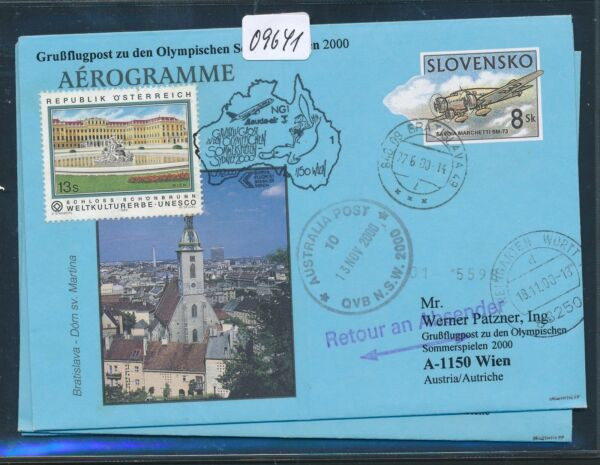 09641) Lauda Olympiades Pour Lp Vienne-sydney 15.9.2000, Vignette Slovaquie