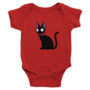 Infant-Baby-Rib-Bodysuit-Jumpsuit-Romper-Clothes-Ghibli-Jiji-Kiki-039-s-Anime-Cat