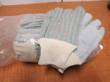 12 Pairs Leather Gloves Red Striped Small Split Cowhide