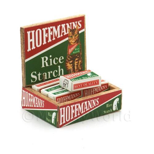Casa De Muñecas lleno Hoffmanns caja de presentación de contador de tienda de almidón de arroz