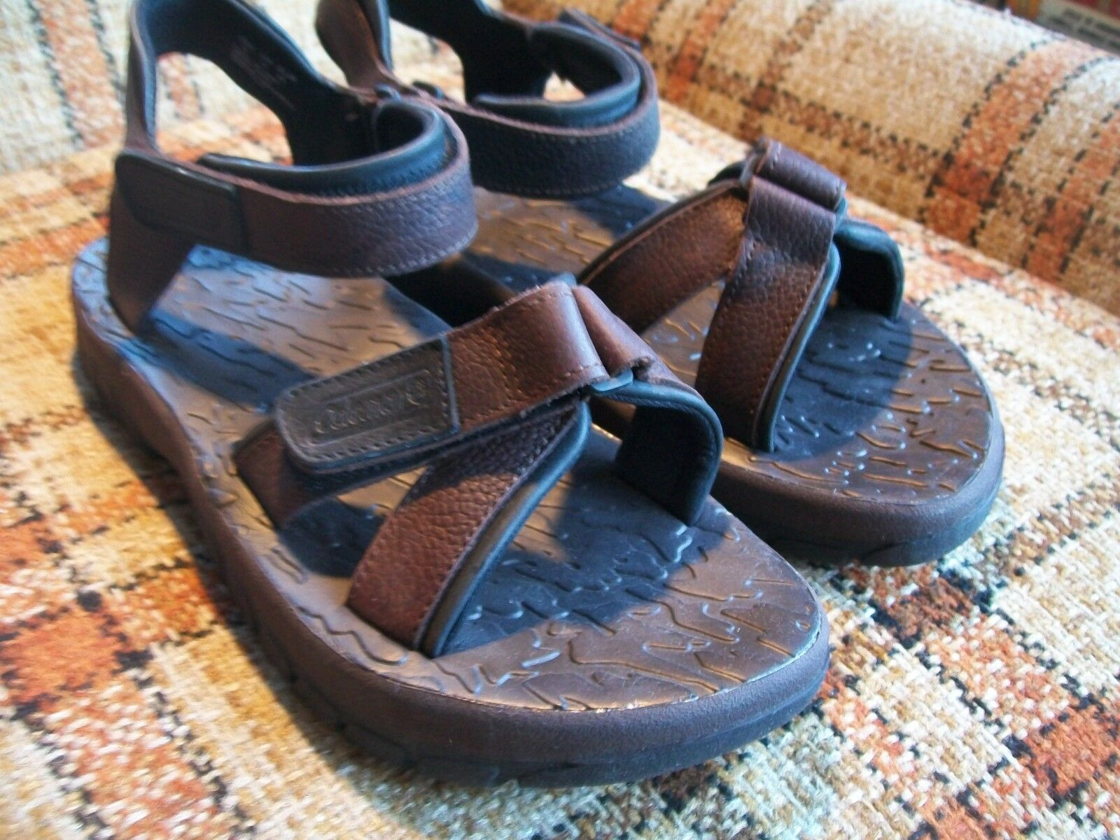 093c58bef ... Coleman Mens Size 12 () Brown Leather Sandals Rubber Rubber Rubber  Soles Stock No  ...