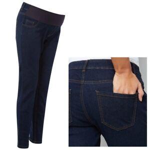 0e94a196b9f6a Maternity New Look Under Bump Skinny Jeans Navy Sizes 8 - 20 | eBay