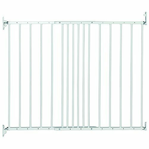 Safetots Extending Metal Pet Gate, 62.5 to 106.8 cm, White