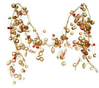 Raz Imports Qvc Valerie Fall Decor- Harvest Lighted Beaded Jeweled Garland 5848