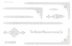 Singer Featherweight 221 Sewing Machine Restoration Decals Silver Metallic Ink