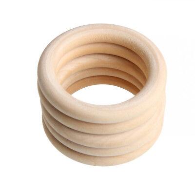 10Pcs Baby Wooden Teething Rings Necklace Bracelet DIY Crafts Natural Kit