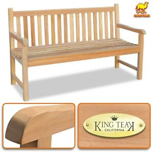 Details About 59 L Teak Wood Java Bench W Back Support 3 Seater Outdoor Arm Relax Garden Chair