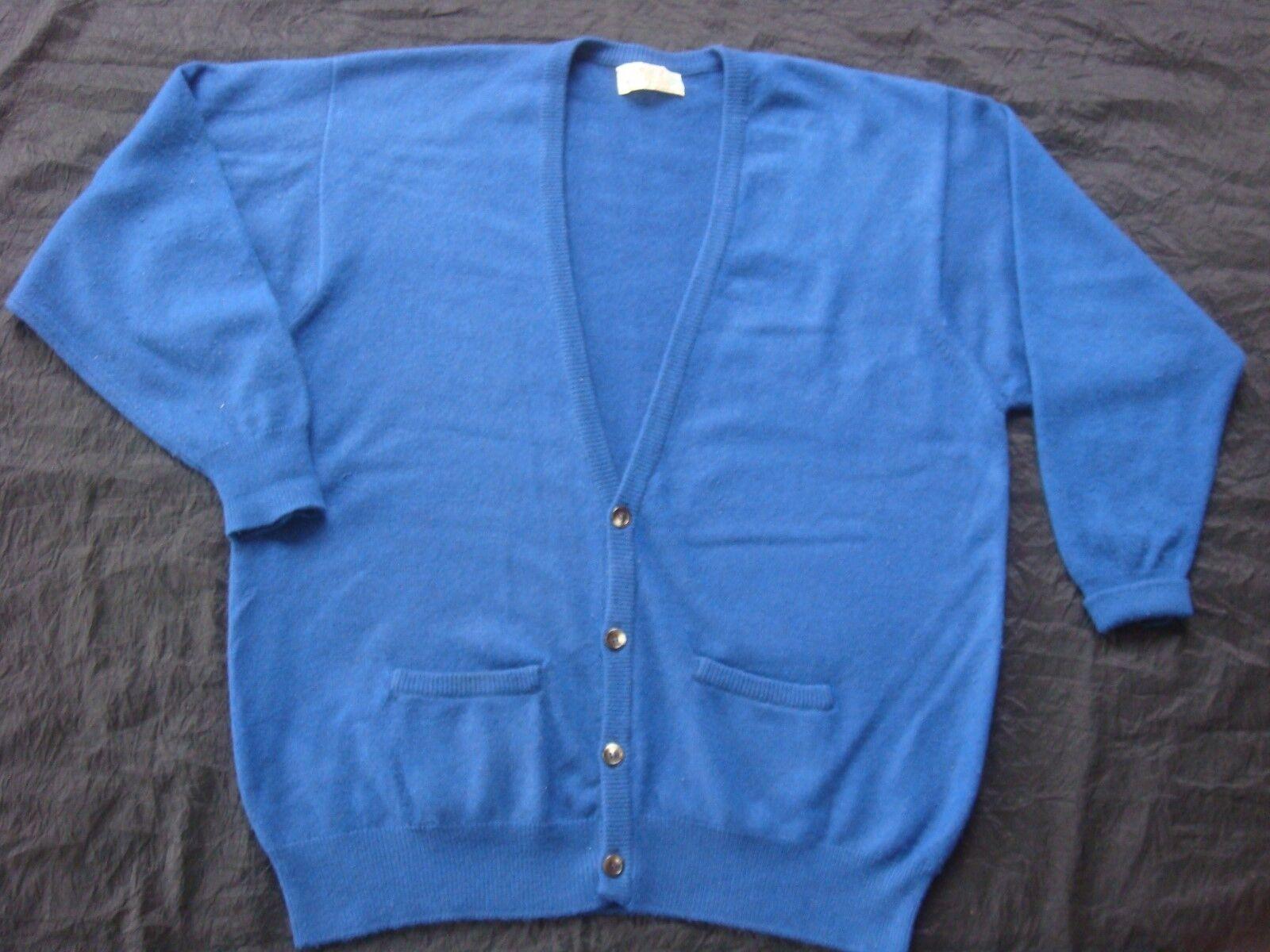 Cashmere Strickwest Smith Telford Scotland feinsten Qualität  stahlblau Gr. XL