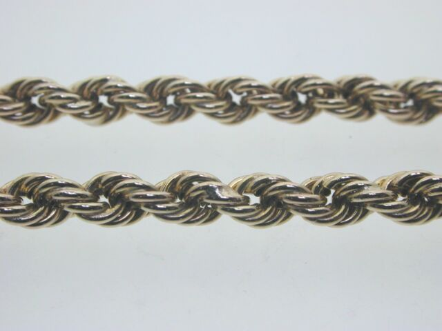 9 carat gold rope chain necklace 24