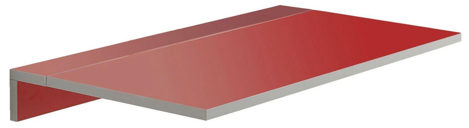 Mesa diseño moderno color rojo Vera cocina suspendida pared plegable 80x10-50