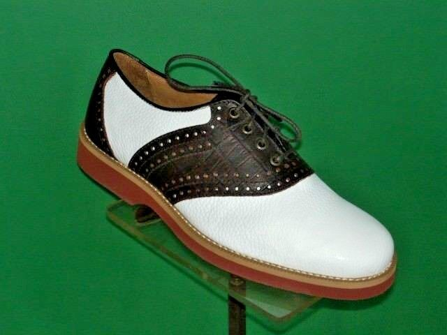 marron and blanc Saddle chaussures Colter Creek by Trask US femmes Tailles NOS