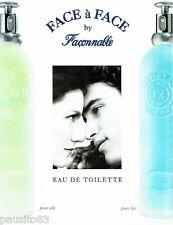 PUBLICITE ADVERTISING 116  1996  Façonnable eau de toilette Face à Face