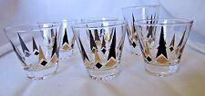 Federal Harlequin Diamonds Cordial Tumblers Glass Mid Century Modern