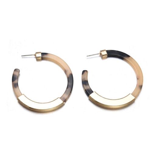 Fashion Women Acrylic Geometric Pendant Dangle Drop Statement Earrings Jewelry