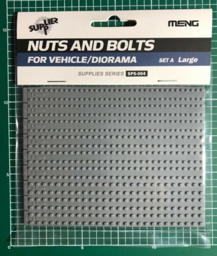 MENG SPS-004 PLASTIC KIT NUTS AND BOLTS SET A LARGE 1.8mm//2.6mm