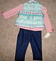 Girls Clothes Outfit Vest Jacket 3 Piece Set Clothes 18 Months Baby Girl Blue