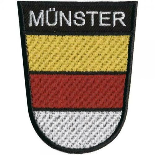 ca 8 x 6 cm AUFNÄHER Münster 00049 Gr Patches Stick Applikation