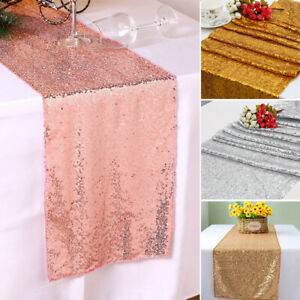12-034-x-72-034-Glitter-Sequin-Table-Runner-Cloths-for-Xmas-Party-Banquet-Wedding