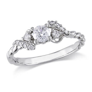 Amour 1/2 CT Diamond TW Engagement Ring in 14K White Gold