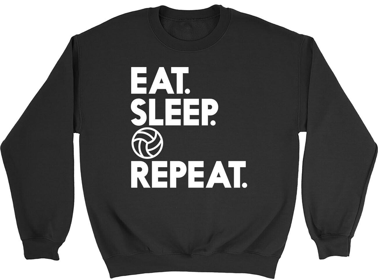 Eat Sleep Netball Repeat Mens Womens Sweatshirt Jumper
