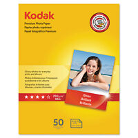 Kodak Premium Photo Paper 8.5 Mil Glossy 8 1/2 X 11 50 Sheets/pack 8360513 on Sale