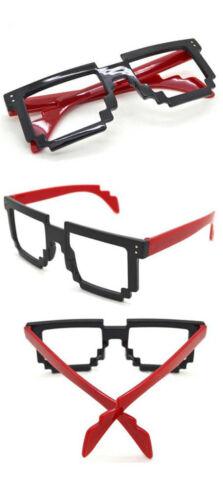 New Fashion Eyewear 8 Bit Pixel Party Costume Eyeglasses Frame Cool Wear Gamer