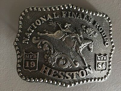 1986 Hesston NFR Rodeo Belt Buckle Adult size