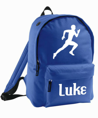 Kids Bag Personalised Backpack Rucksack Add Name Boys Girls Running Athletics