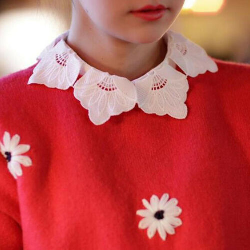 Lace Shirt Retro Fake Collar Elegant Petal Hollowed Out Water Soluble Collar 889