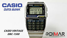VINTAGE CASIO DBC-1500 DATA BANK TELEMEMO CALCULATOR QW.1477 AÑO 1992