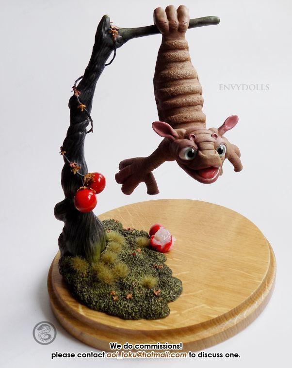 Vuelo puckmarin de la escultura de Navigator Estatua figura; Alien Lindo Juguete