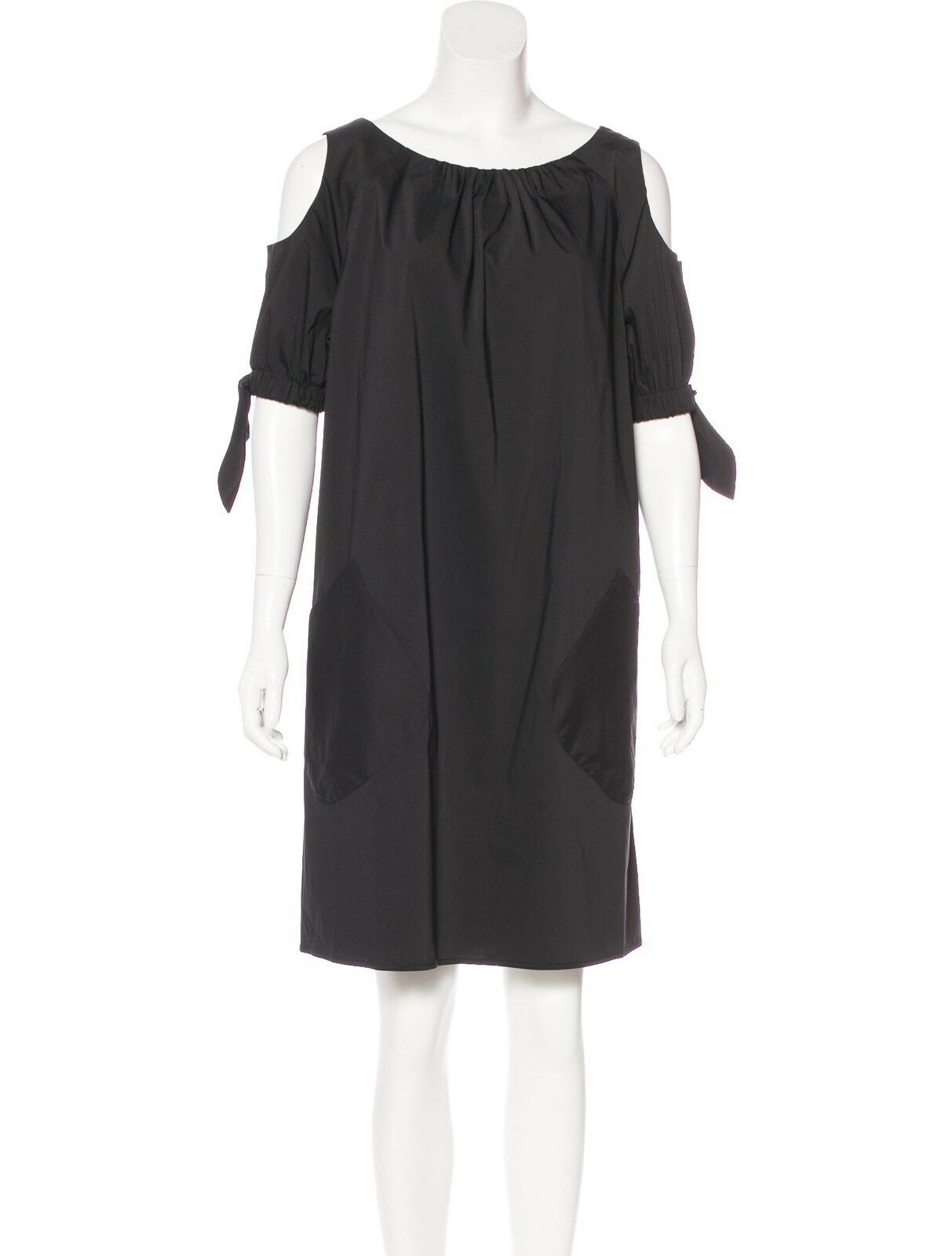 Talbot Runhof  Cold Shoulder Mini Dress