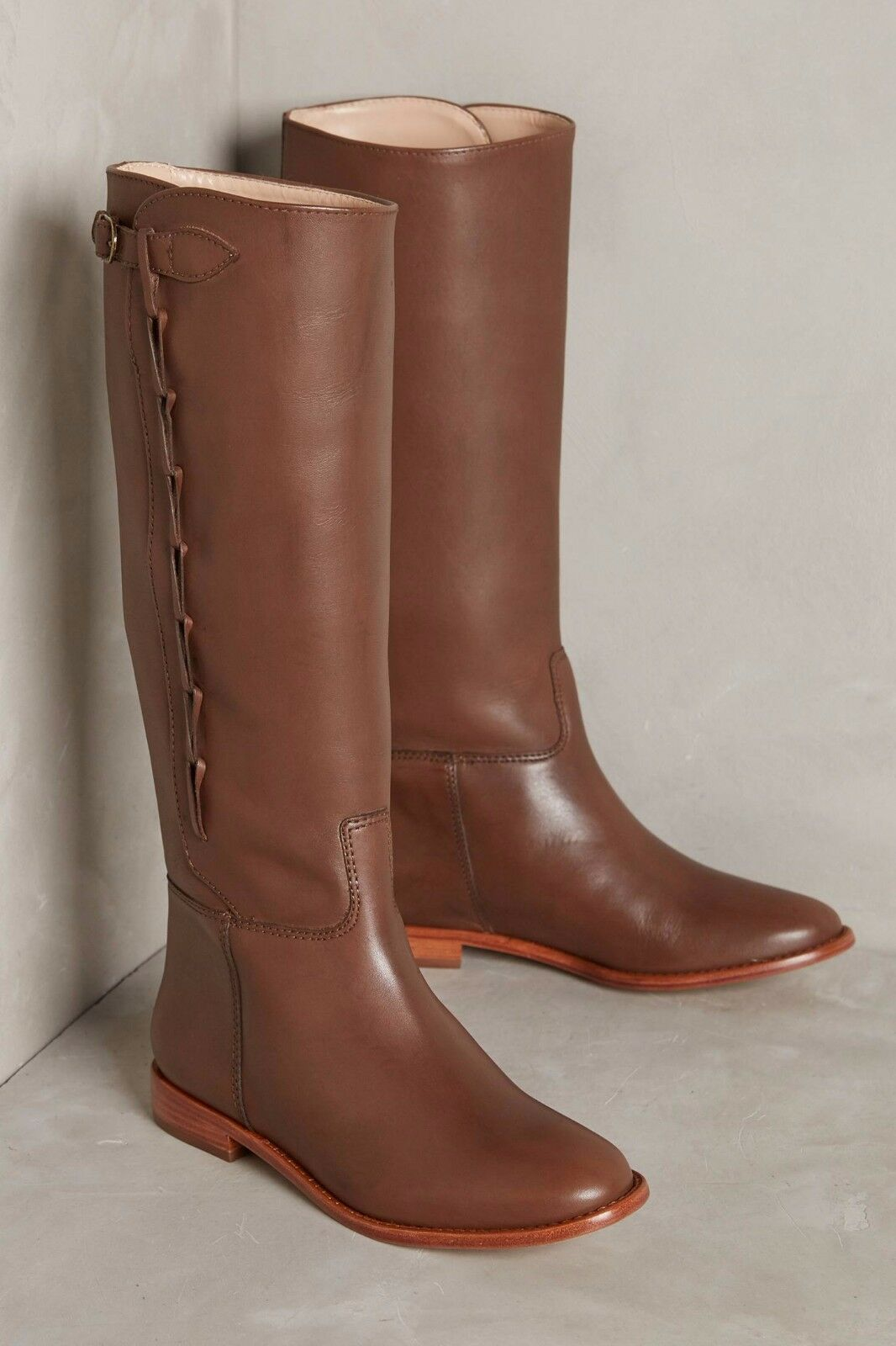 Anthropologie Candela Side-Looped Riding Boots  378 Sz 6, 9.5  - NWOB