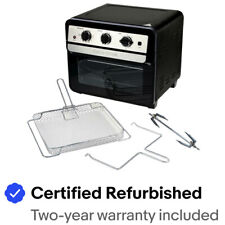 Curtis Stone 1700-Watt 22L Air Fryer Oven with Rotisserie  Certified Refurbished
