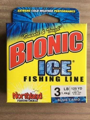 environ 1.36 kg - 125 Yd Northland FISHING TACKLE-Bionic glace ® Ligne de pêche-BLEU CAMO environ 114.30 m 3 Lb