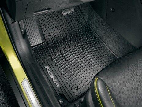 J9131ADE10 Genuine Hyundai Kona 2018-on Grey Rubber Floor Mats