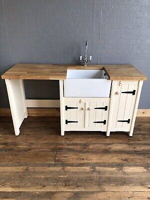 Pine Country Kitchen Belfast Butler Sink Unit Oak Worktop Appliance Housing Ebay