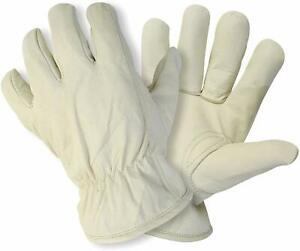 Bien éDuqué Briers Doublé Masquer En Cuir Souple Confortable Jardinage Gant Blanc Small Neuf-afficher Le Titre D'origine