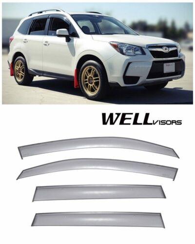 For 14-16 Subaru Forestor WellVisors Side Window Visors Black Trim