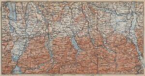 Honesty Bayerische Alpen Bavarian Alps Lenggries Spitzingsee Bayrischzell 1914 Map