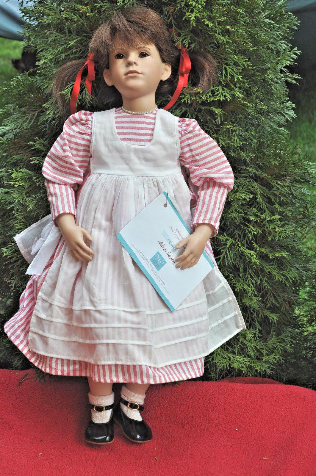 Künstlerpuppe -  Waltershäuser Puppenmanufaktur - Mädchen 63 cm - Puppe Nr.10