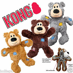 Extra-small-13-cm-tiny-KONG-WILD-noeuds-ours-doux-chien-chiot-jouet-farce-min