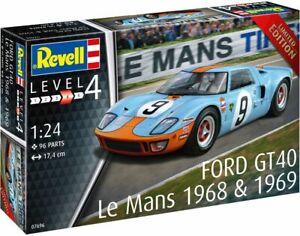 FORD GT40 Le Mans 1968 1969 model car plastic assembly kit 1:24th REVELL 07696