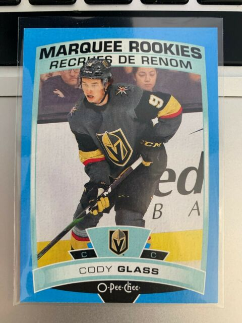 CODY GLASS SP BLUE RC 2019-20 UPPER DECK O-PEE-CHEE MARQUEE ROOKIE OPC KNIGHTS