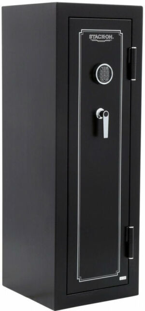 Large 14-Gun Electronic Lock Rifle Safe Security Storage Fire Protection  Black