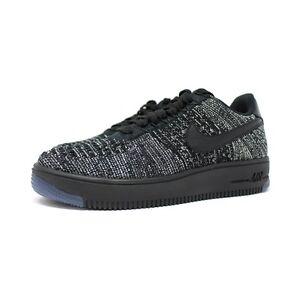 new product f42d0 0fadb Details about Nike W AF1 Flyknit Low # 820256 007 Black Grey Women SZ 5 - 12