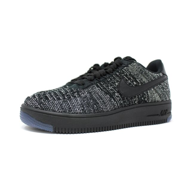 best service dfb8d d989e Nike W AF1 Flyknit Low  820256 007 Black Grey Women SZ 5 - 12