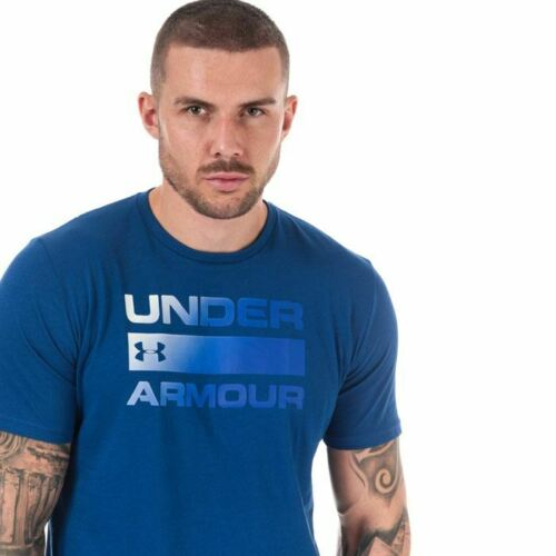 Details about  /Men/'s Under Armour UA Team Issue Wordmark Loose Fit Crew Neck T-Shirt in Blue