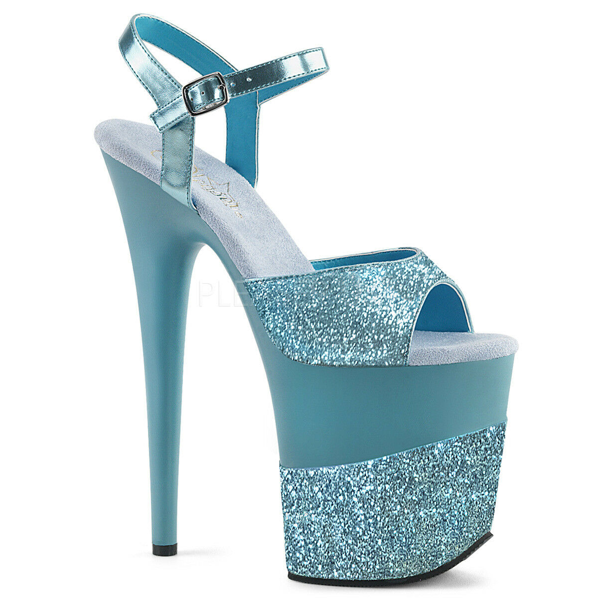 8  Baby Blau Glitter Platform Stripper schuhe Pole Pole Pole Dancer Pleaser Flamingo Heels 950659